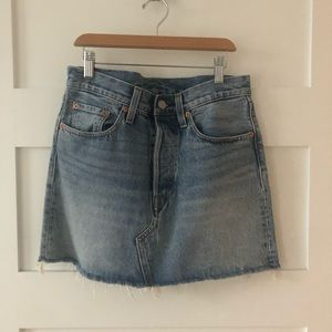Levi's Skirts - Levi's high waisted denim skirt - size 27